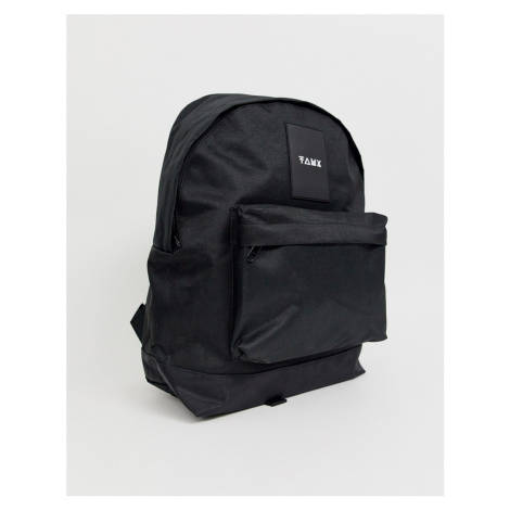 Friend or Faux zip backpack in black
