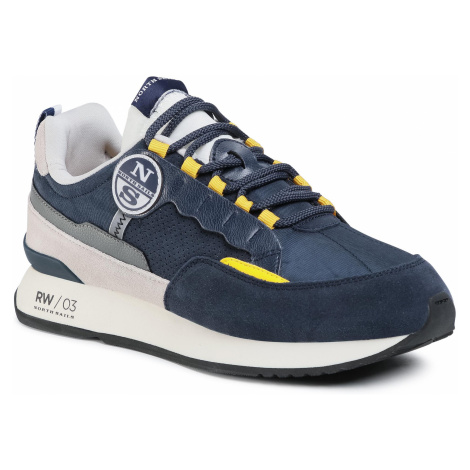 Sneakersy NORTH SAILS - RW/03 Punch 038 Navy/Yellow