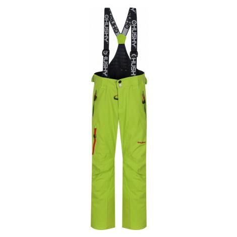 Spodnie narciarskie dla dzieci i #39 Zeus Kids jasnozielone Husky