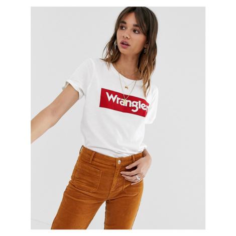 Wrangler block logo t shirt