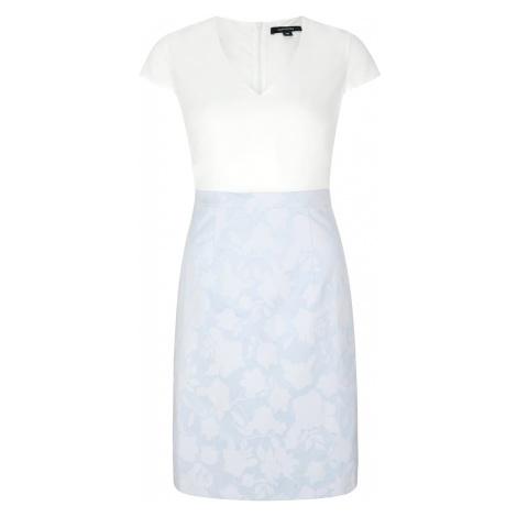 COMMA Sukienka etui biały / jasnoniebieski
