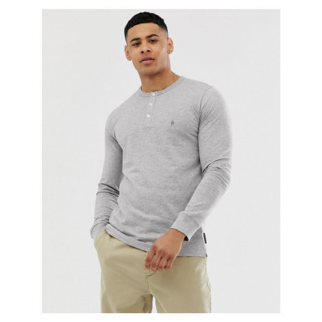 French Connection long sleeve grandad neck long sleeve top
