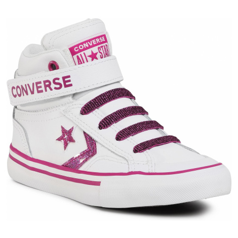 Sneakersy CONVERSE - Pro Blaze Strap Hi 668475C White/Cactus Flower
