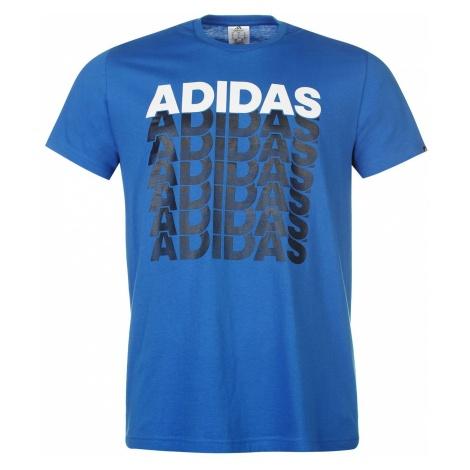 adidas Repeated Linear T Shirt Mens
