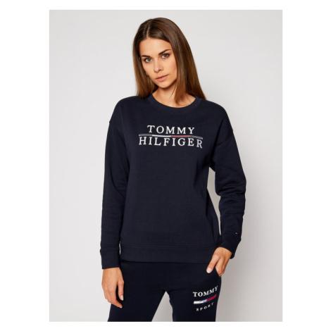 Tommy Hilfiger Bluza Logo Embroidery WW0WW29246 Granatowy Relaxed Fit