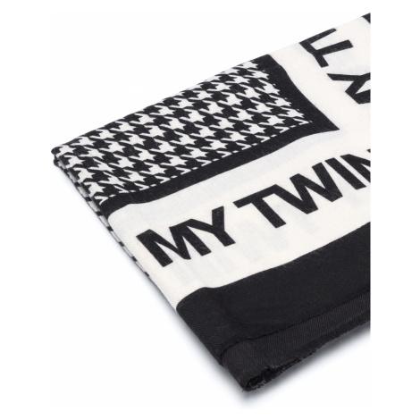 TWINSET Szalik Czarny Biały