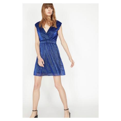 Koton cekinów szczegółowo sukienka suknia wieczorowa sukienka