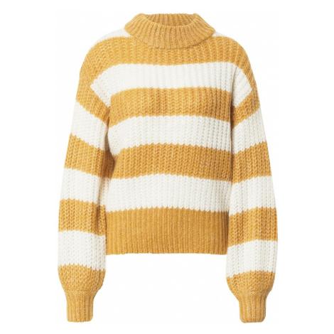 SISTERS POINT Sweter 'Lilja' żółty / biały