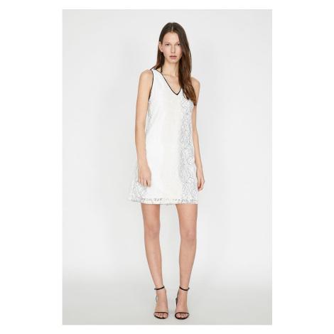 Koton Damska biała sukienka