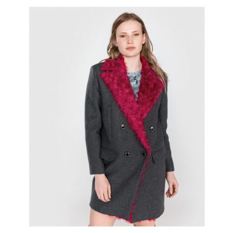 Pinko Martino 1 Płaszcz Różowy Szary