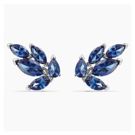 Kolczyki sztyftowe Louison, niebieskie, powlekane rodem Swarovski