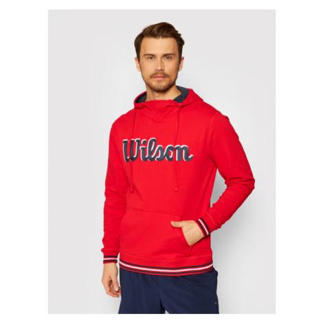 Wilson Bluza M Chi Script Po WRA791103 Czerwony Regular Fit