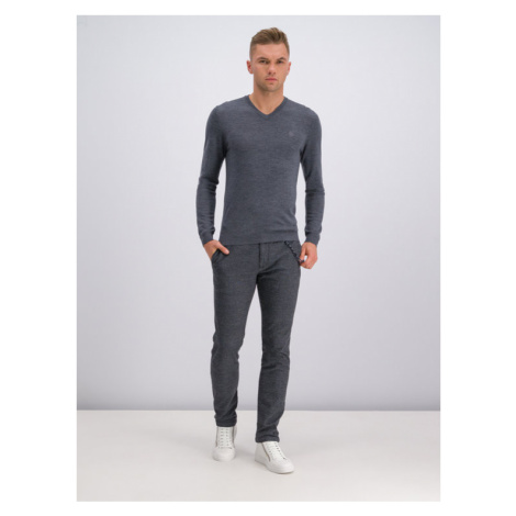 Roy Robson Sweter 5052-91 Szary Regular Fit