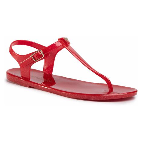 Sandały EMPORIO ARMANI - X3QS06 XL816 M604 Red/Glitter Gold