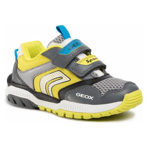 Sneakersy GEOX - J Tuono B. A J02AXA 014BU C1267 S Dk Grey/Lime