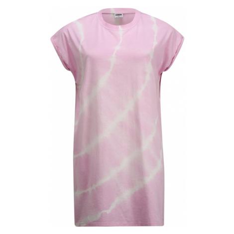 Urban Classics Curvy Sukienka 'Tie Dye' różowy