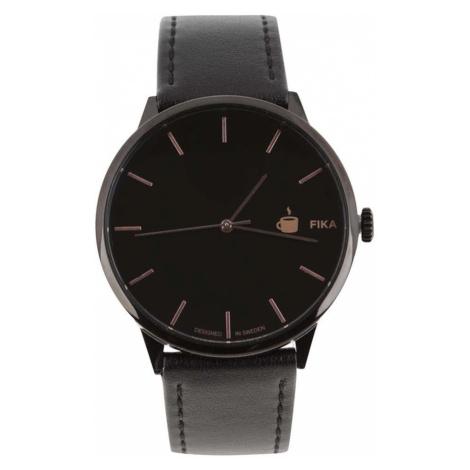 CHPO Czarny zegarek unisex z paskiem wegańskiej skóry Cheapo Khorshid Fika