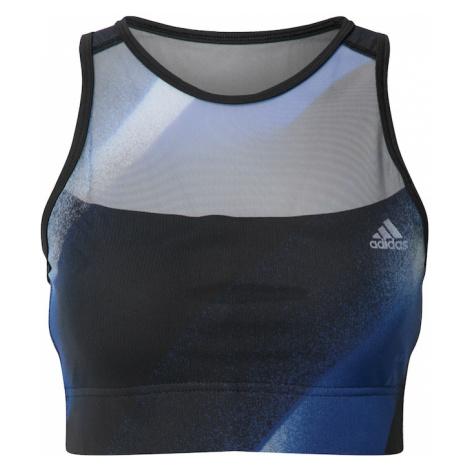 ADIDAS PERFORMANCE Biustonosz sportowy biały / czarny / niebieski / szary