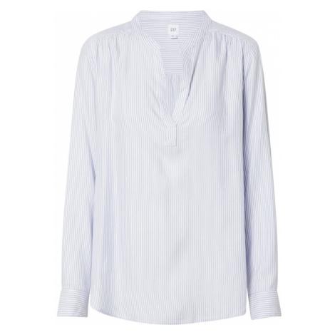 GAP Bluzka 'DRAPEY' biały / niebieski