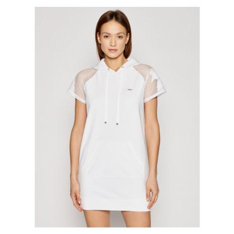 Liu Jo Sport Sukienka codzienna TA1204 F0833 Biały Regular Fit