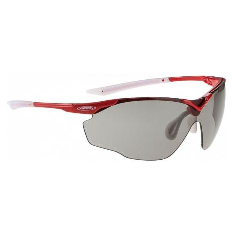 Białe męskie sportowe okulary przeciwsłoneczne