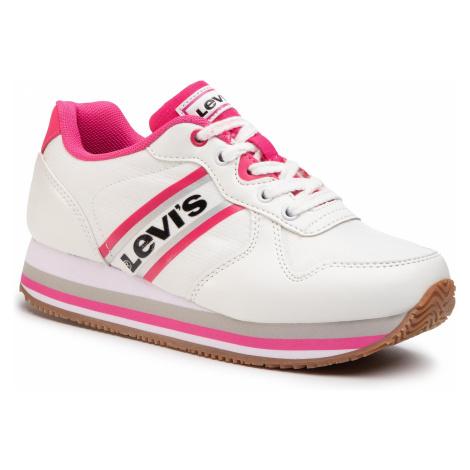 Sneakersy LEVI'S - VHOL0002S White Fuxia 0069 Levi´s