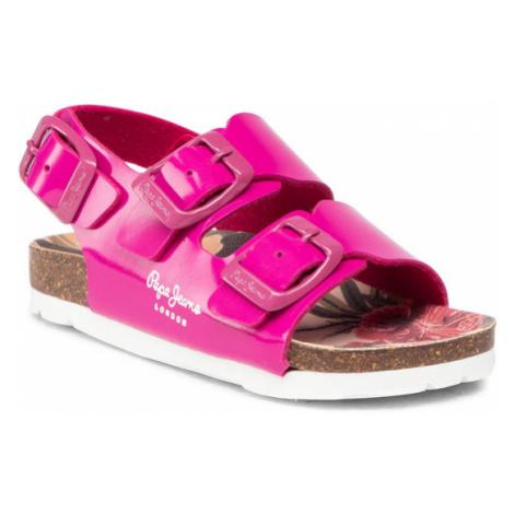 Pepe Jeans Sandały Bio Basic Buckles PGS90171 Różowy