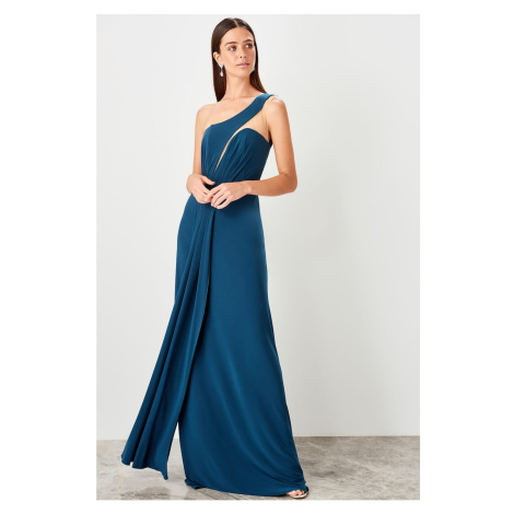 Trendyol Oil one shoulder evening dress