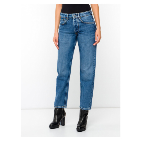 Pepe Jeans Jeansy DUA LIPA Brave PL203583 Granatowy Relaxed Fit