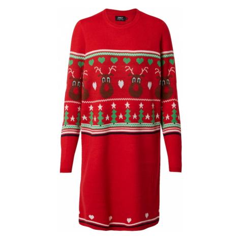 ONLY Sukienka z dzianiny 'XMAS VIBE' mieszane kolory / czerwony