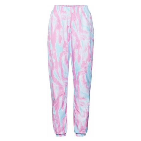 Urban Classics Spodnie 'Tie Dye Track Pants' różowy / niebieski
