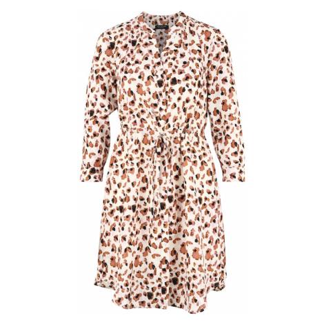SELECTED FEMME Sukienka koszulowa brązowy / biały / czarny / różowy pudrowy
