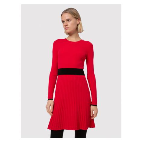 Hugo Sukienka dzianinowa Seagery 50439238 Czerwony Slim Fit Hugo Boss