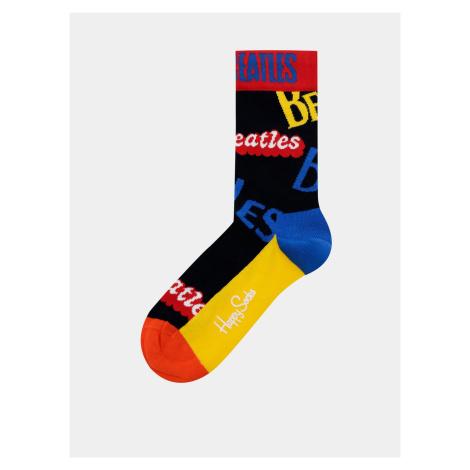 Żółto-czarne skarpetki Happy Socks Beatles In The Name Sock