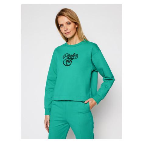 Pinko Bluza Buffy AI 20-21 PRR 1N12XY Y75F Zielony Regular Fit