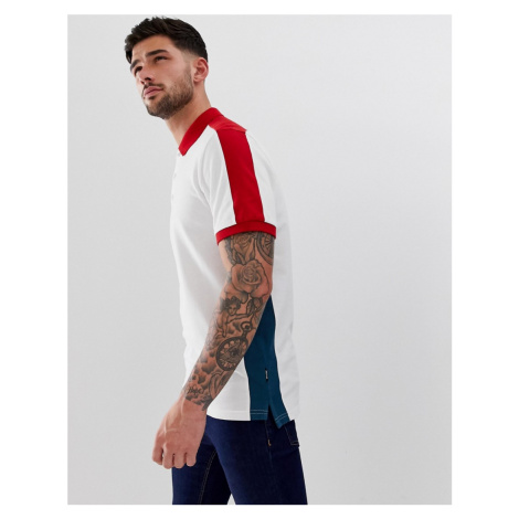 Only & Sons block colour polo shirt