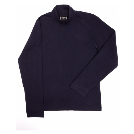 Children´s navy blue cotton blouse with turtleneck
