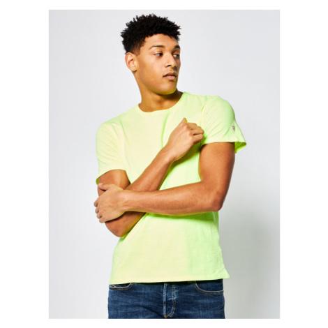Guess T-Shirt Pocket Tee M0GI54 K6XN0 Żółty Slim Fit