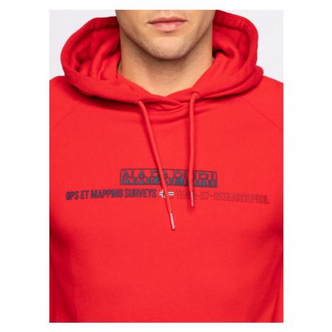 Napapijri Bluza Bastia H NP0A4E1S Czerwony Regular Fit