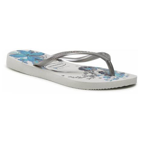 Japonki HAVAIANAS - Slim Organic Fc 41328235676 White/Bright Silver