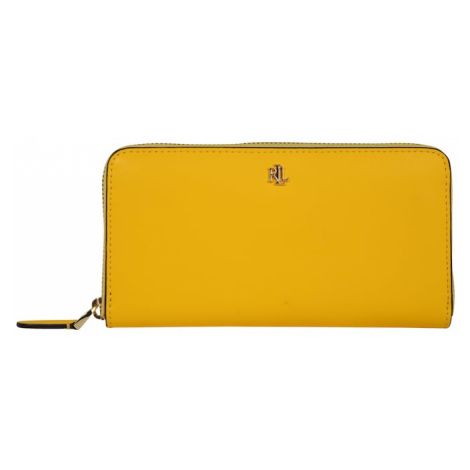 Lauren Ralph Lauren Portmonetka 'SUPER SMOOTH LEATHR-ZIP CONT WLT-WLT-LRG' brązowy / żółty
