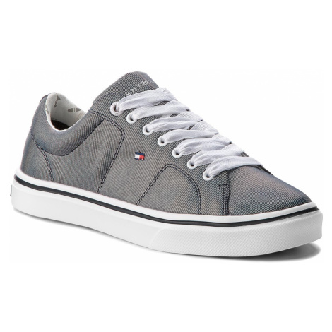 Sneakersy TOMMY HILFIGER - Metallic Light Weight Lace Up FW0FW03028 Midnight 403