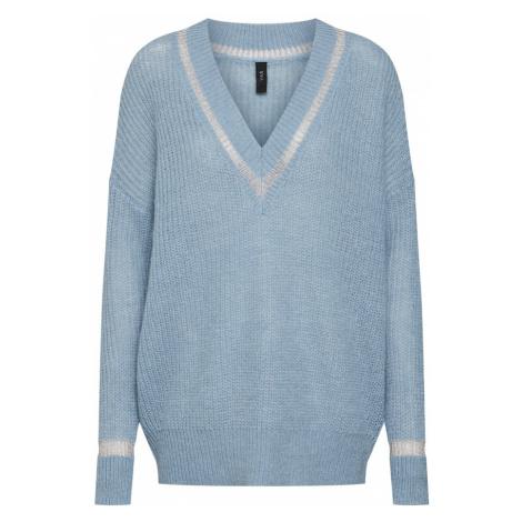 Y.A.S Sweter podpalany niebieski / srebrny