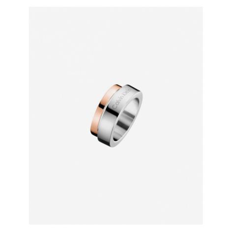 Calvin Klein Loud Pierścień Różowy Srebrny