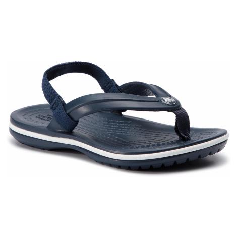 Sandały CROCS - Crocsband Strap Flip K 205777 Navy
