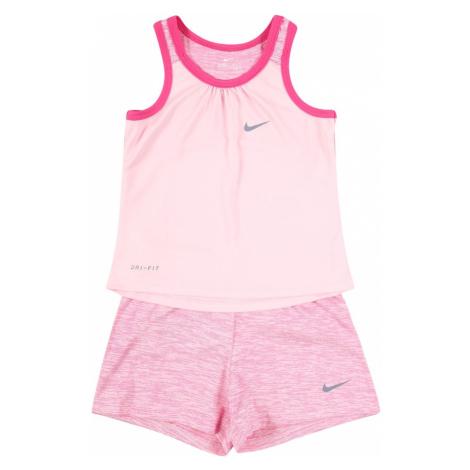 Nike Sportswear Zestaw 'SWOOSH' nakrapiany szary / ciemnoróżowy / różowy pudrowy / różany
