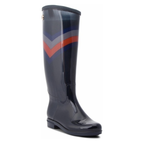 Kalosze TOMMY HILFIGER - Corporate Long Rain FW0FW03563 Rwb 020
