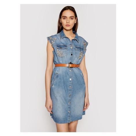 Liu Jo Sukienka jeansowa UA1059 D4549 Niebieski Regular Fit