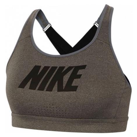 Nike IMPACT STRAPPY BRA GRX ciemnozielony L - Biustonosz sportowy