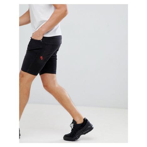 11 Degrees skinny denim shorts in washed black